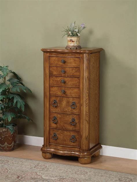 distressed jewelry armoire porter valley jewelry armoire distressed oak 277 314