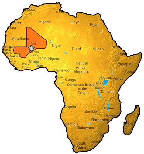 africa map mali mali project