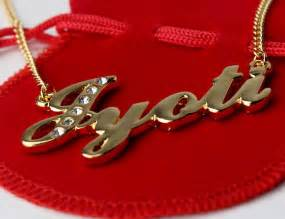 name necklace jyoti 18ct gold plated personalised indian