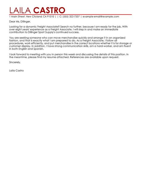 cover letter for unrelated best sales freight associate cover letter exles livecareer