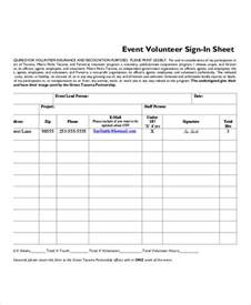free volunteer sign in sheet template volunteer sign in sheet templates 10 free pdf documents