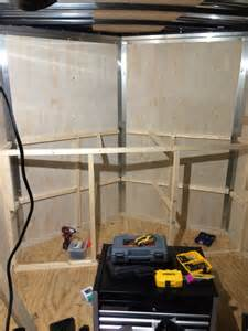 Enclosed Storage Shelves V Nose Trailer Cabinet Stuff I Built Pinterest Cargo