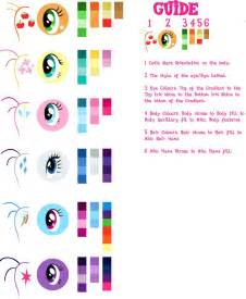 my pony colors pony vector colour guide by gurugrendo on deviantart