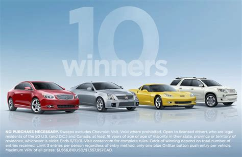 Onstar Sweepstakes - creative marketing communications sweepstakes and fulfillment house