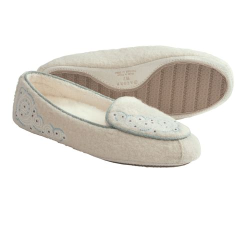 boiled wool womens slippers acorn moc slippers boiled wool for