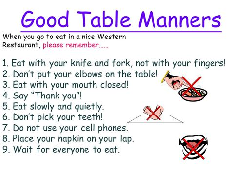 Dining Table Etiquette Ppt Dining Table Etiquette Ppt 28 Images Table Manners