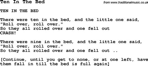 Ten In The Bed Lyrics by Summer C Song Ten In The Bed With Lyrics And Chords