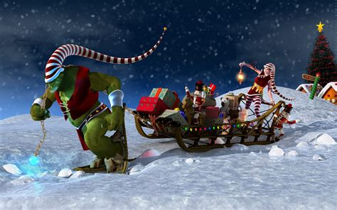 wallpaper christmas cartoon animated christmas desktop wallpaper wallpapers9