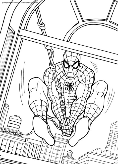 spiderman coloring pages 4
