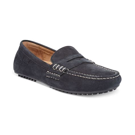 ralph loafers polo ralph wes loafers in black for lyst