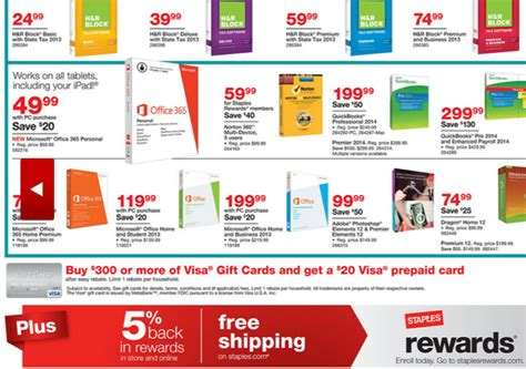Buy Visa Gift Card With Amex - staples deal buy 300 in visa gift cards get 20 back and stacks with amex sync