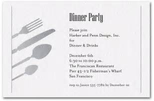 dinner invite template silver utensils on shimmery white invitations
