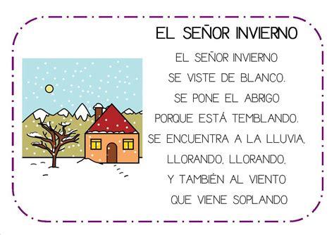 cartas de invierno winter poemas y rimas del invierno para ni 241 os fichas de primaria