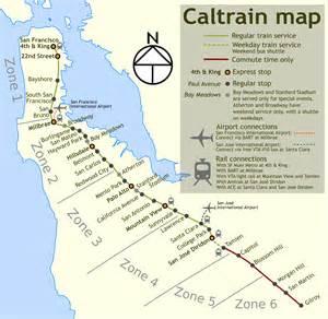 San Francisco Caltrain Map by Caltrain Map California Images