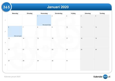 kalender januari