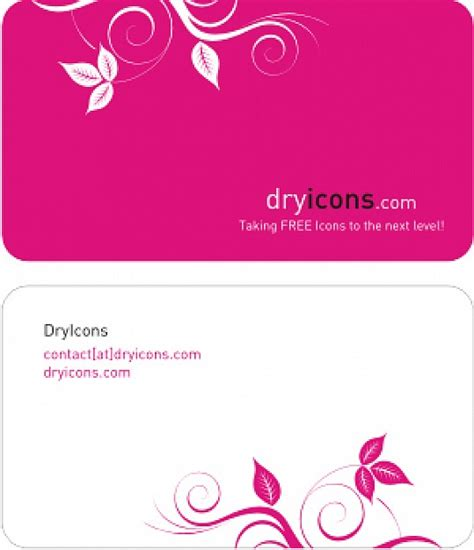 Free Vectors Business Card Templates by Dryicons Business Card Template Vector Free