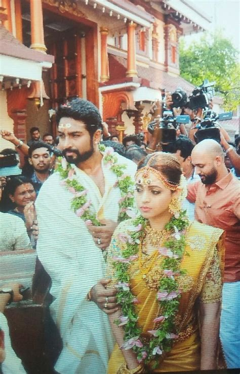 film actress marriage life it s a fairytale beginning for bhavana view inside pics
