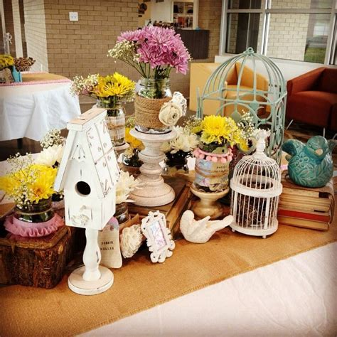 shabby chic table decorations bridal shower baby shower