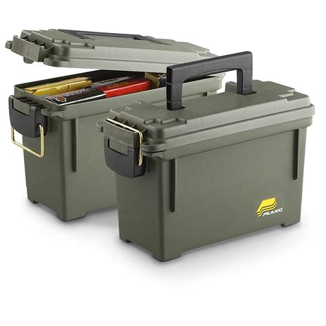 ammo storage plano ammo boxes 2 pack 208638 ammo boxes cans at