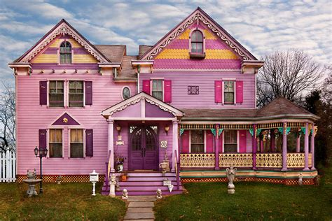 colorful houses painting house victorian i love bright colors photograph by