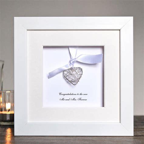 Handmade Frames - personalised wedding wire box frame by twenty seven
