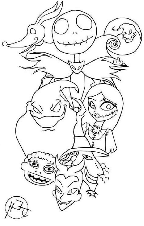 the nightmare before christmas coloring book pages fantastical the nightmare before christmas coloring pages