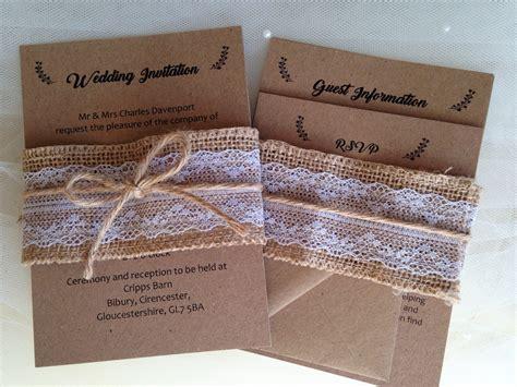 burlap and lace wedding invitations uk burlap and lace wedding invitations wedding invites