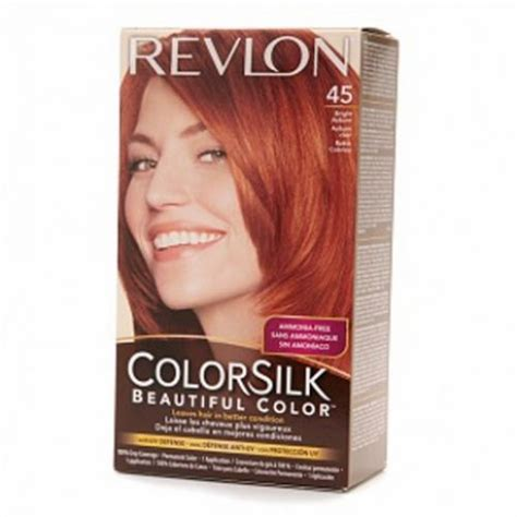 hair color for 45 revlon colorsilk hair color dye bright auburn 45 hair
