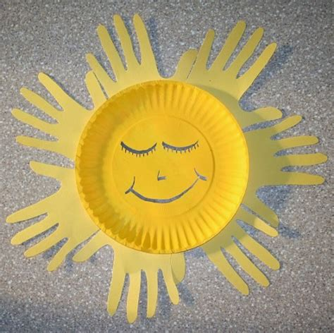 Sun Paper Plate Craft - diy paper plates crafts for