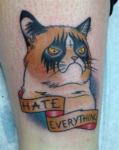 fat cat tattoo newmarket grumpy cat tattoo