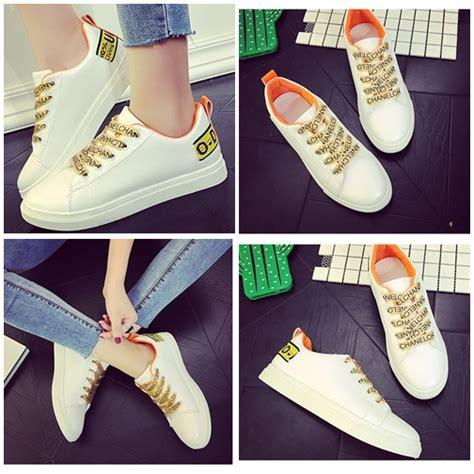 Sepatu Wanita Fashionable Joviana Orange Flatshoes jual shs113 orange sepatu sport fashion wanita grosirimpor