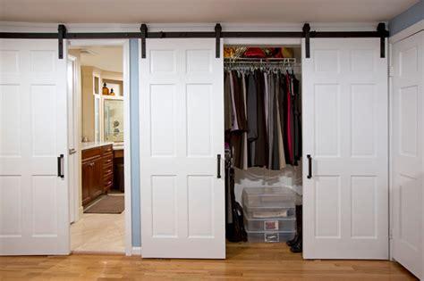 Houzz Master Bedroom Ideas sliding doors with barnyard hardware farmhouse bedroom