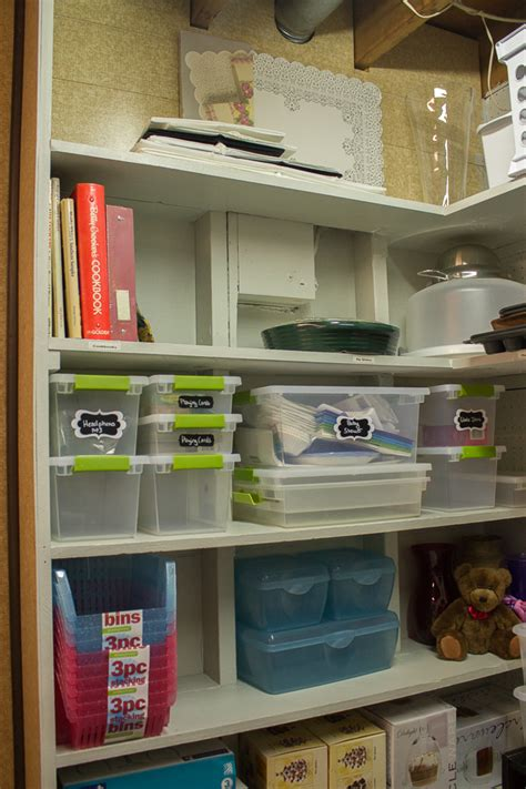 organizing my storage area on a budget i heart planners
