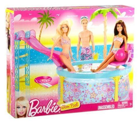 barbie doll house with swimming pool barbie dream pool ebay