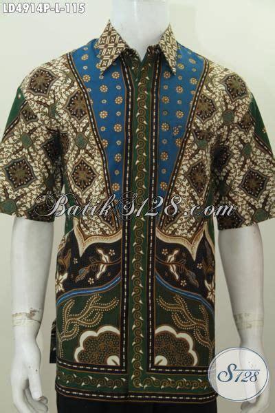 desain baju batik lelaki baju hem pria karir bahan batik klasik printing buatan
