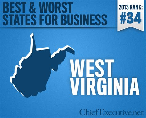 Top Mba Programs Virginia by West Virginia Is The 34th Best State For Business 2013
