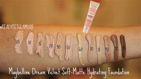 Revlon New Complexion Hydrating maybelline velvet soft matte hydrating foundation