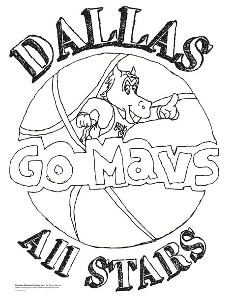 dallas mavs mascot free coloring pages