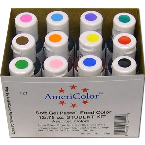 americolor food coloring americolor soft gel paste student food color kit