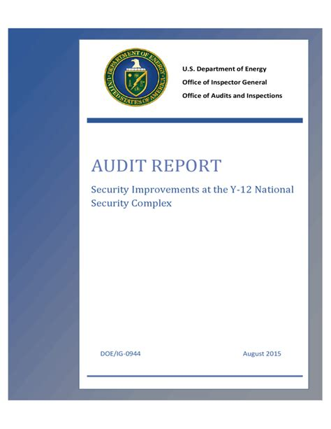 energy audit report template audit report us department of energy free