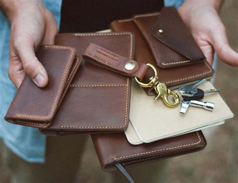 Handmade Leather Company - peartree leather co unique handmade leather goods