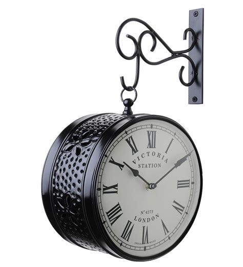 designer wall clocks online india medieval india black victoria station double side wall