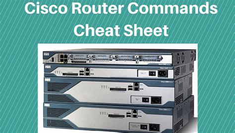 Router Switch Cisco cisco ios router configuration commands sheet pdf