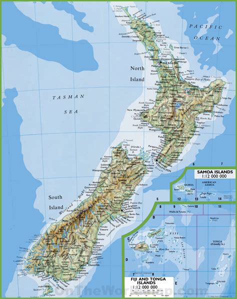 map of towns geography new zealand map with cities