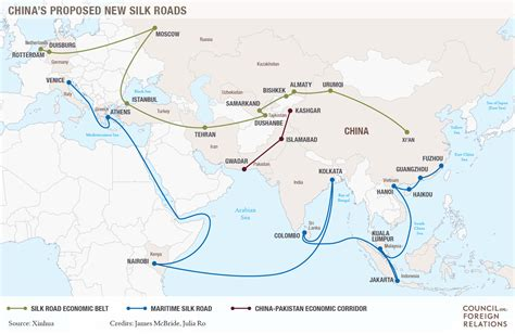 silk road map building the new silk road council on foreign relations