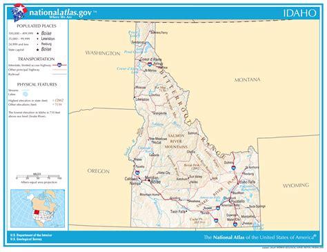 printable road map of idaho large detailed map of idaho state idaho state large