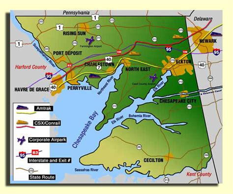 maryland map cecil county transportation in cecil county maryland