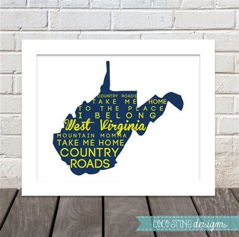take me home country roads lyrics west virginia print can