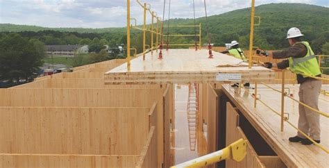 Wood Floor Protection military giants cross laminated timber construction gets