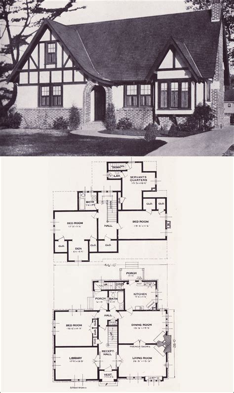 Modern Bungalow Floor Plans by The Stratford English Revival Tudor Style 1923